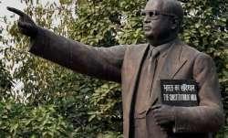 Ambedkar statue desecrated in UP's Ballia