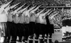 In this May 14, 1938 file photo the England soccer team