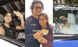 In PICS: Sara Ali Khan, brother Ibrahim spend fami