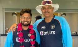 Rishabh Pant and Ravi Shastri