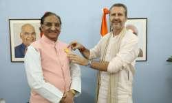 Ramesh Pokhriyal Nishank receives 'Maharishi Inter National