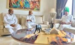 Nitish Kumar OP Chautala meeting