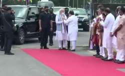 modi arrives in delhi