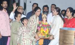 Shilpa Shetty bid goodbye to Lord Ganesha as she immersed