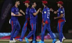 Afghanistan takes on Scotland in the ICC Men's T20 World Cup Super 12 Group 2 match in Sharjah.