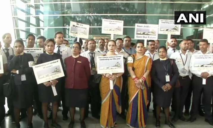 Jet Airways employees commemorate 26th anniversary of the