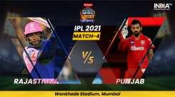 Live Cricket Score, IPL 2021, Match 4, RR vs PBKS Follow Live score and updates from Mumbai